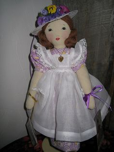 Edith Flack Ackley doll-To greet a little girl pattern by grannyinak, via Flickr