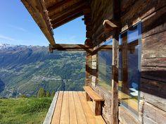 Las Mejores Fotografías del Mundo: Cabaña de montaña en Suiza.
