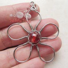 wire jewelry - flower ...for Karen L
