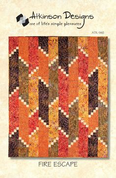 Fire Escape Pattern...Fire Escape Pattern        Make this dramatic quilt using five 1 yd. cuts of fabric (lap size) lap, twin, queen.                        Price:  $9.00 each           ...
