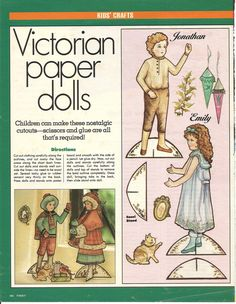 Mostly Paper Dolls: Victorian Paper Dolls from FIRST Magazine, 1989