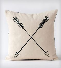 Black Arrows Organic Cotton Pillow