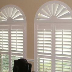 Faux wood blinds look great in any home. But, eventually, even the most durable of faux wood blinds will start to get old and lose their luster. If your blinds have seen their better day, you wil… Arched Window Coverings, Curtains For Arched Windows, Interior Window Shutters, Interior Windows, Wood Windows, Custom Windows, Sunroom Windows, Arch Windows, Bay Windows