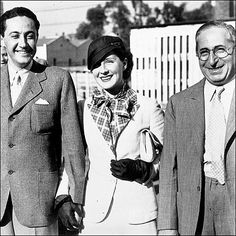 Irving Thalberg, Norma Shearer and Louis B Mayer. Thalberg was married to Norma Shearer.