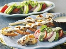 Key Lime Grilled Shrimp and Avocado Salad With Cilantro Crema #Contest