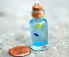 bottle crafts sand Items similar to SALE Tiny Octopus Seascape in medium Bottle on Etsy Crafts With Glass Jars, Glass Bottle Crafts, Mini Glass Bottles, Diy Bottle, Mason Jar Crafts, Bottle Art, Bottle Jewelry, Bottle Charms, Bottle Necklace