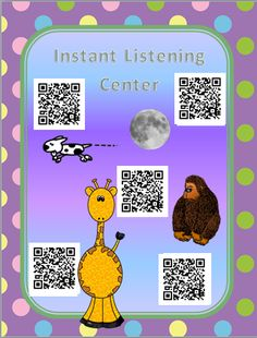 Free listening center - uses QR Codes. So easy! Literacy Stations, Literacy Centers, Work Stations, Listening Station, Listening Centers, Listen To Reading, 2nd Grade Reading, Reading Centers, Kindergarten Literacy