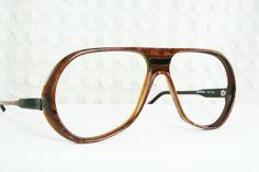 ceccfb49693 70s Glasses 1970 s Aviator Eyeglasses Bill Blass Men s Dark Brown Black  Horn Rim Designer Frame NOS Unisex 57 16 Universal Optical