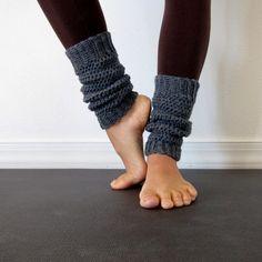 Cozy Oxford Grey Crochet Leg Warmers. $25.00, via Etsy.