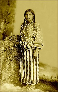 Crow native American girl. This photograph was taken at Ft. Custer.