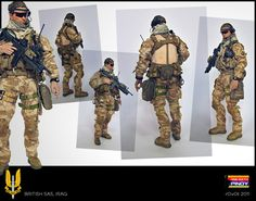 British SAS Operative Special Air Service, Military Action Figures, Green Beret, Royal Marines, Modern Warfare, British Army, Military Art, Special Forces, Airsoft