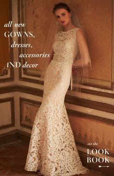 Oh my word ~ this lace gown. Featured at BHLDN online.