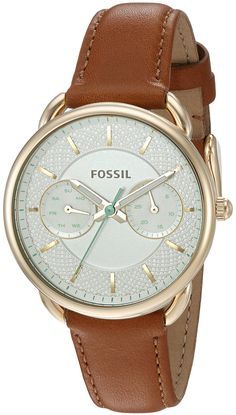 Women's Wrist Watches - Fossil Womens Tailor Multifunction Dark Brown Leather Watch >>> Check out this great product. Fossil Watches, Cool Watches, Wrist Watches, Fossil Leather Watch, Dark Brown Leather, Fashion Watches, Discount Shoes, Watch Bands, New Shoes