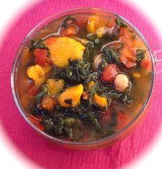Pink-Vegan: Sweet Potato Chickpea Veggie Soup (DF, GF)