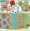 FREE Digital Scrapbooking Kit - Funky Florals
