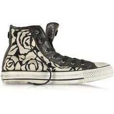 Converse Limited Edition Shoes All Star HI White Roses Canvas and... ($120) ❤ liked on Polyvore featuring shoes, sneakers, converse, 18. converse., zapatillas, canvas shoes, white canvas high tops, white high tops, white sneakers and hi top canvas sneakers