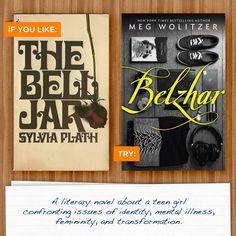 The Bell Jar by Sylvia Plath and #Belzhar by Meg Wolitzer
