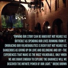 Brene brown quote and blog on vulnerability.