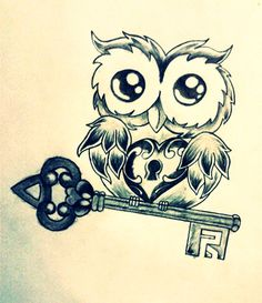 Owl Heart Key by LazyMexicano.deviantart.com on @deviantART