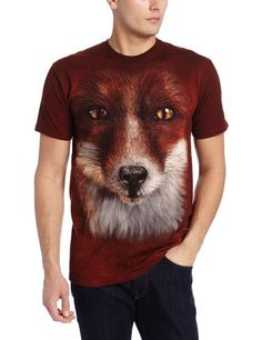 The Mountain Men's Big Face Fox T-Shirt | Friendly Faces