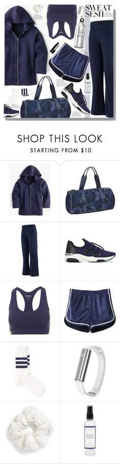 """sweatsesh"" by marionmeyer ❤ liked on Polyvore featuring J.Crew, Athleta, ibex, Carvela, Monreal, Misfit, Topshop, Chanel, The Laundress and sweatsesh"