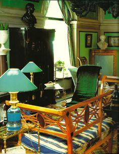 Madeleine Castaing's green Boutique on 21, rue Bonaparte, Paris (Source: Rizzoli)