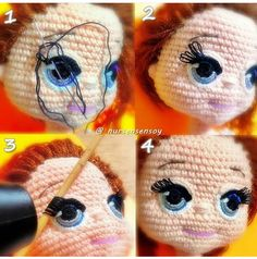 A free Amigurumi Dog pattern that shows you how to use Brush Crochet to create the most adorable fluffy doll with a realistic furry look. Best crochet dolls omg i m completely in love with these dolls so cute salvabrani amigurumi crochet knitting amigurum Crochet Amigurumi, Crochet Doll Pattern, Amigurumi Patterns, Amigurumi Doll, Doll Patterns, Crochet Patterns, Crochet Eyes, Cute Crochet, Crochet Baby