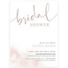 Blush Bridal Shower Invitation | Forever Your Prints