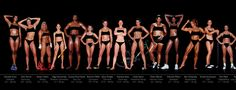 photos of female olympic athletes taken by Howard Shatz in 2002. There is such a diversity of body types.