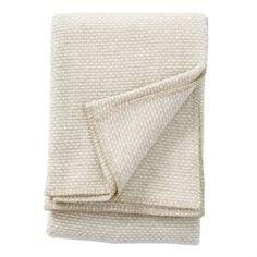 Domino wool throw - beige - Klippan Yllefabrik