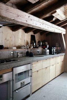 decorer le plafond dans la cuisine avec planches bois leroy merlin