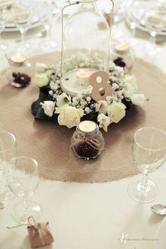 La décoration d'une table ronde par Cyane Event design ainsi que le plan de table