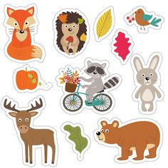 Скрапбукинг, рукоделие Printable Stickers, Planner Stickers, Paper Toys, Paper Crafts, Winnie The Poo, Planner Sheets, Woodland Critters, The Fox And The Hound, Kawaii Stickers
