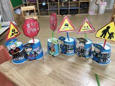 +경찰 만들기 : 우리동네 주제교통안전판을 이용한 경찰관우리동네 주제 : 경찰 만들기 종이컵과 간단한 그... Art For Kids, Crafts For Kids, Arts And Crafts, Diy Crafts, Transportation Activities, Childcare, Creative Art, Art Projects, Kindergarten