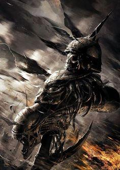 Alien & Predator Shish Kabob by Raymond Swanland