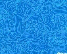 Just Color - Subtle Spirals - Pacific Blue
