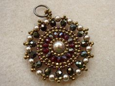 Instructions for Pearl Medallion Beading tutorial by njdesigns1