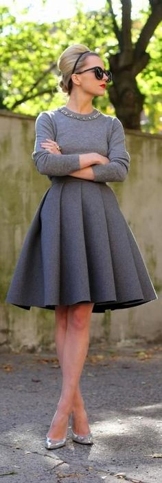 #street #fashion #style #grey #lovely #vintage #look