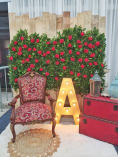 Welcome area for Arielle's debut. Welcome, Chair, Furniture, Home Decor, Ariel, Decoration Home, Room Decor, Home Furnishings, Stool
