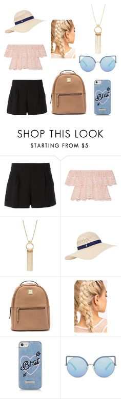 """""""Belle pour une soirée plage"""" by laetitiamineau ❤ liked on Polyvore featuring Boutique Moschino, Miguelina, Accessorize, Skinnydip and Matthew Williamson"""