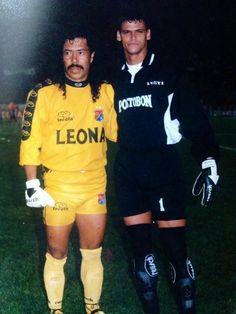 Rene Higuita + Miguel Calero World Football, Football Players, Cristiano Ronaldo Lionel Messi, Goalkeeper, Athlete, Sportswear, Soccer, Bison, Jackets