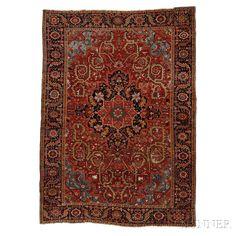 Heriz Strapwork Design Carpet
