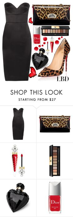 """little black dress"" by teto000 ❤ liked on Polyvore featuring Victoria Beckham, Christian Louboutin, Yves Saint Laurent, Lipsy, Christian Dior, black, LittleBlackDress and LBD"