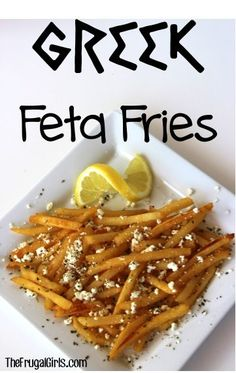 Greek Feta Fries Recipe ~ from http://TheFrugalGirls.com {such a simple and delicious way to jazz up your fries!!}