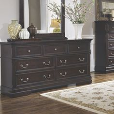 Coaster Home Furnishings 203262 Traditional Dresser, Dark Cherry |