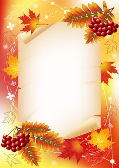 "Photo from album ""Autumn Backgrounds"" on – About Graphic Design Borders For Paper, Borders And Frames, Leaf Background, Paper Background, Decoupage, Autumn Illustration, Birthday Frames, Quilt Labels, Frame Clipart"