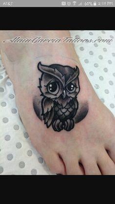 Blk n grey owl