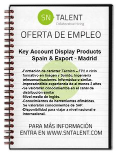 Key #Account Display #Products Spain & #Export in #Madrid