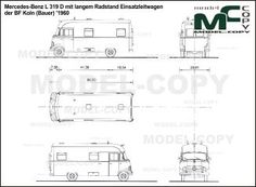 Mercedes-Benz L 319 D mit langem Radstand Einsatzleitwagen der BF Koln (Bauer) '1960 - blueprints (ai, cdr, cdw, dwg, dxf, eps, gif, jpg, pdf, pct, psd, svg, tif, bmp)