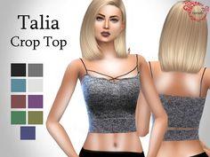 Talia Crop Top by taraab at TSR via Sims 4 Updates